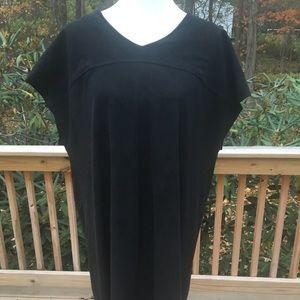 Chico's black faux suede fringe dress